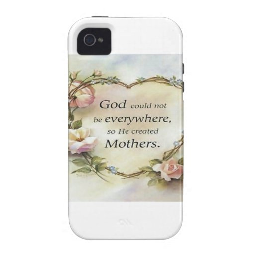God Could Not Be Everywhere.... Case-Mate iPhone 4 Cover