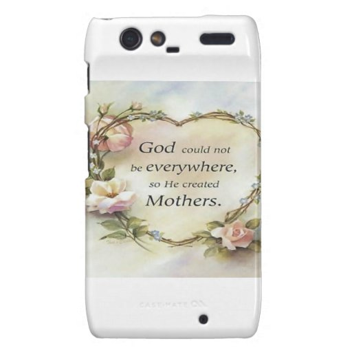 God Could Not Be Everywhere.... Motorola Droid RAZR Case