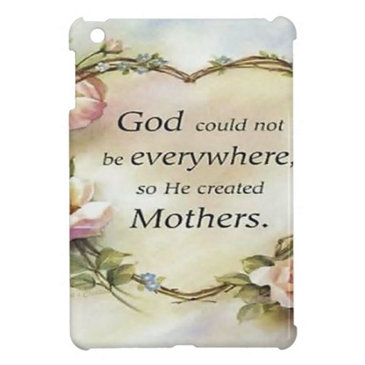 God Could Not Be Everywhere.... iPad Mini Covers