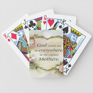 God Could Not Be Everywhere.... Playing Cards