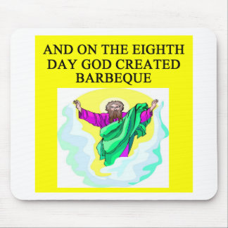 god created barbecue mouse mats