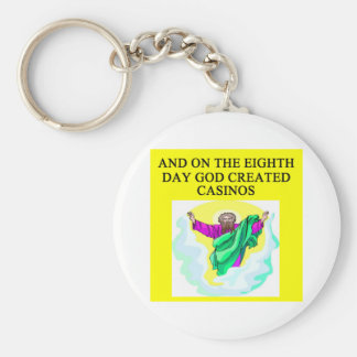 god created casinos basic round button key ring