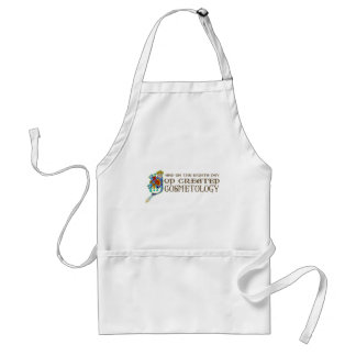 God Created Cosmetology Aprons