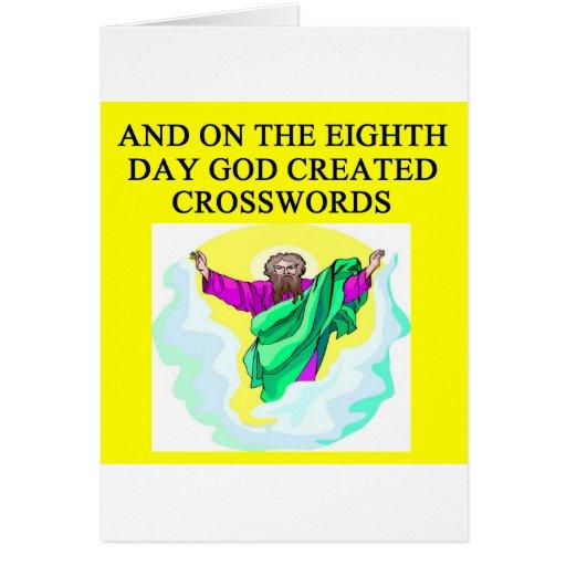 god created crosswords cards