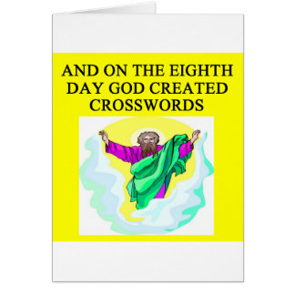 god created crosswords greeting card