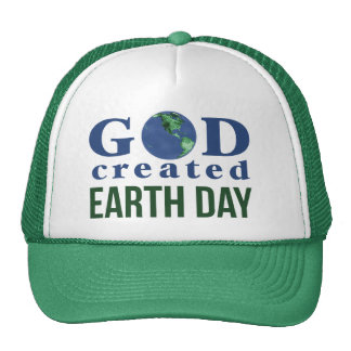 God Created Earth Day Hat