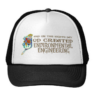 God Created Environmental Engineering Trucker Hat