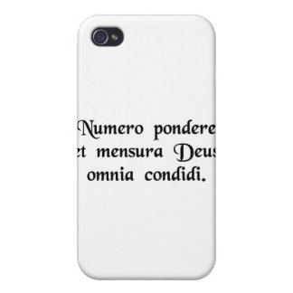 God created everything by number, weight and...... iPhone 4/4S covers