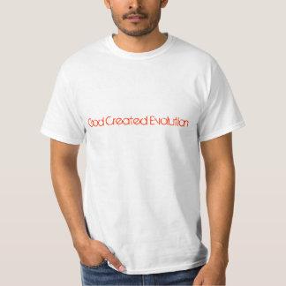 God Created Evolution Tee Shirt