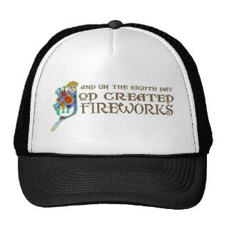 God Created Fireworks Trucker Hat
