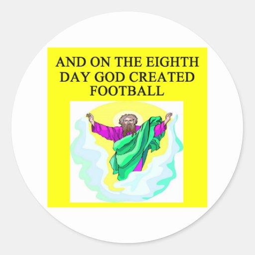 god created football round stickers