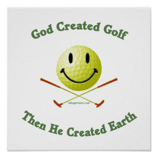 God Created Golf Print