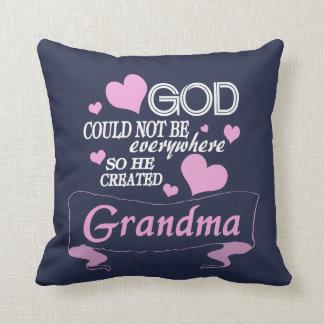 God Created Grandma Cushion