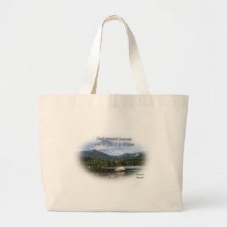 God created heaven tote bags