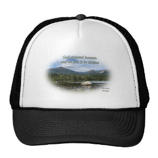 God created heaven mesh hats