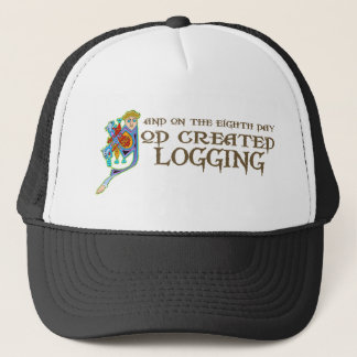God Created Logging Trucker Hat