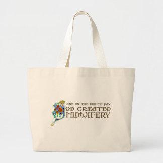 God Created Midwifery Large Tote Bag
