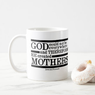 God Created Mothers Coffee Mug
