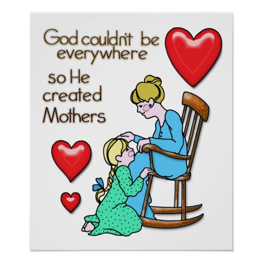 God Created Mothers Poster