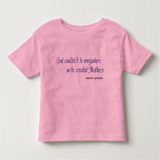 God Created Mothers Toddler Ringer T-Shirt
