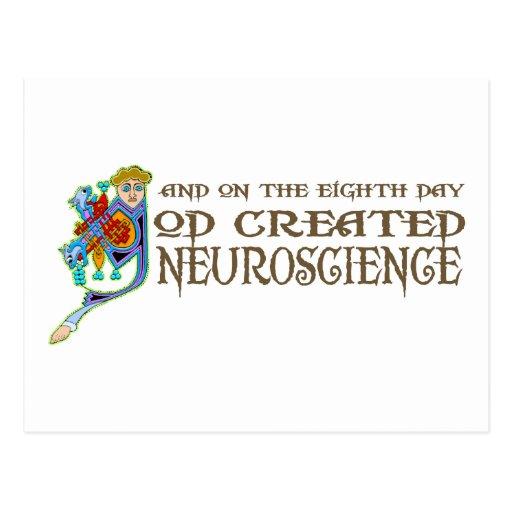 God Created Neuroscience Postcards