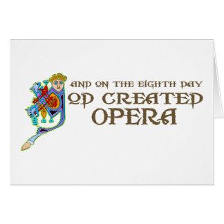God Created Opera Card