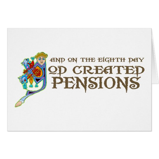 God Created Pensions Card