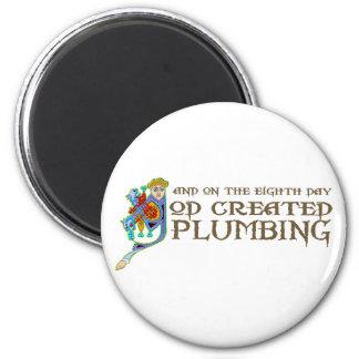 God Created Plumbing Fridge Magnets