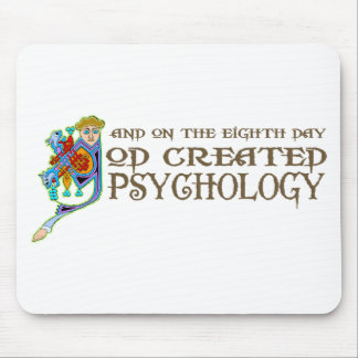 God Created Psychology Mouse Pad