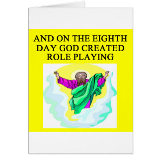 god created role playing greeting card