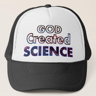 God Created Science Trucker Hat