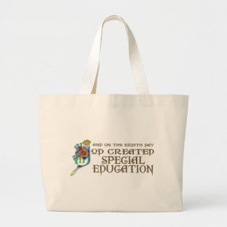 God Created Special Education Large Tote Bag