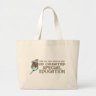 God Created Special Education Canvas Bag