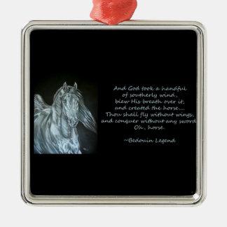 God Created the Horse Christmas Ornament