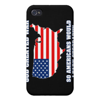 God Created War so Americans Would Learn Geography iPhone 4 Case