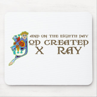 God Created X-Ray Mouse Pad