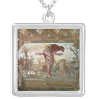 God Creating the Earth Silver Plated Necklace