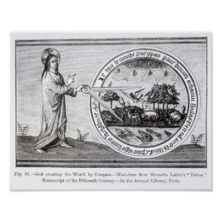 God Creating the World by Compass Print
