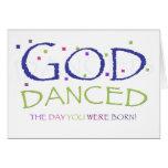 God Danced blank card