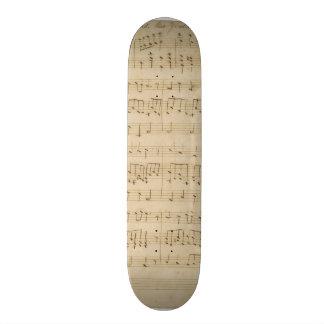 God Defend New Zealand Original Manuscript 1876 18.1 Cm Old School Skateboard Deck