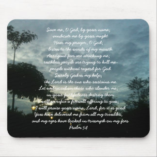 God deliver me. Psalm 54 Mousepad
