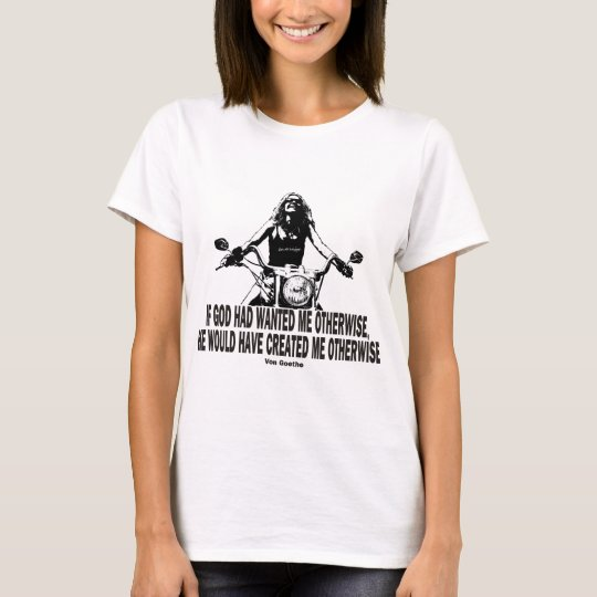 God Don't Hate Women Bikers T-Shirt