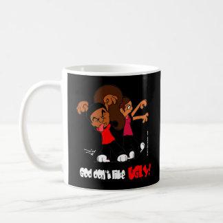 """""""God don't like UGLY!"""" Black Mug"""