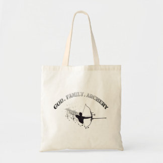 God . Family. Archery Tote