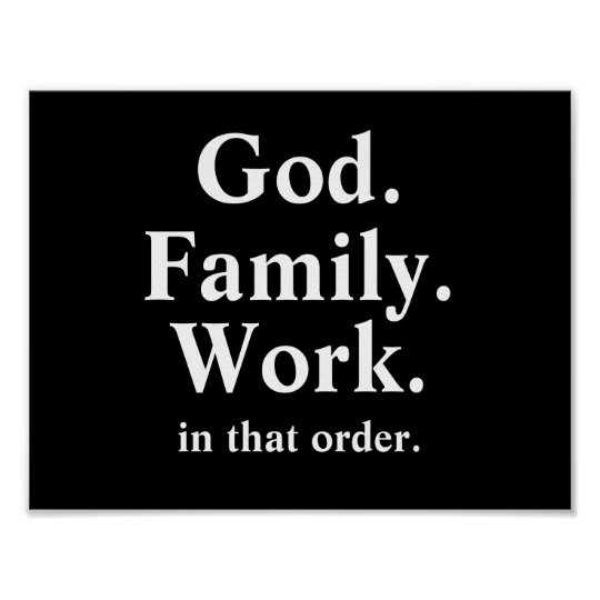 God Family Work Order Quote Poster