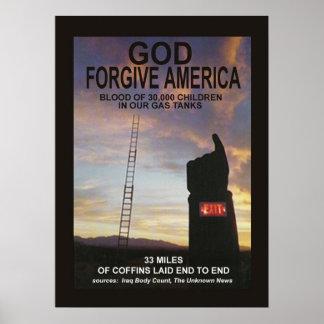 God Forgive America Posters