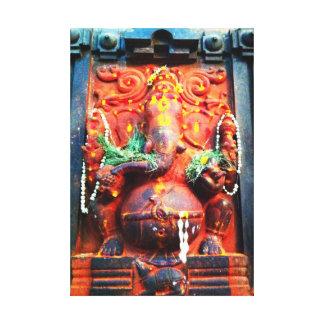 God Ganesha statue Gallery Wrap Canvas