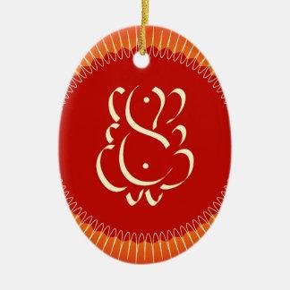 God Ganesha with sun rays Christmas Ornament