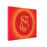 God Ganesha with sun rays Stretched Canvas Prints
