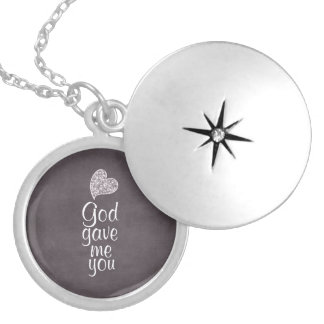 God Gave Me You Round Locket Necklace